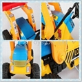 high quality children ride on toy truck mini excavator pedal car 4