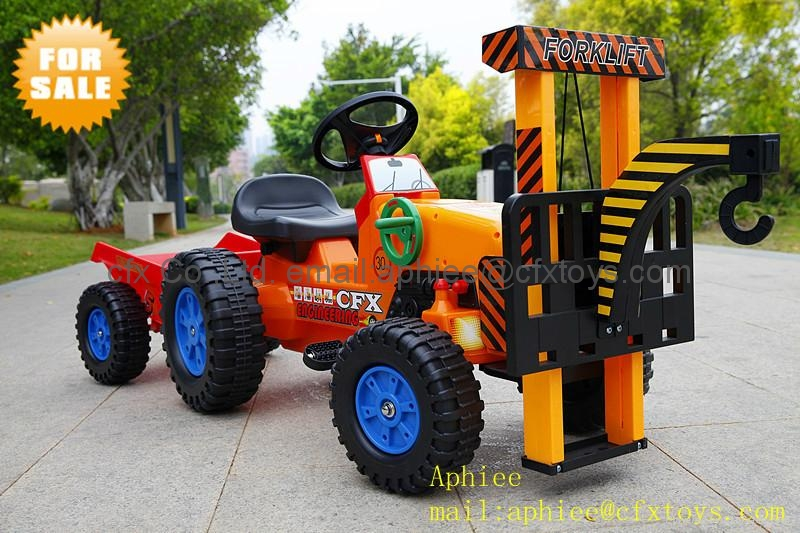 China toys kids ride on car toy car mini tractor toy crane trailer 417 1