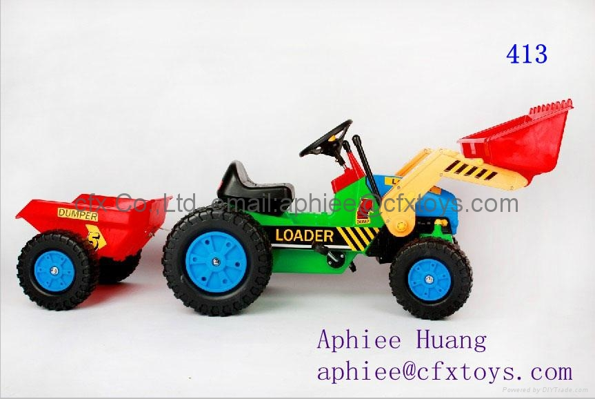 child tricycle toy car small excavator toy with bucket 2