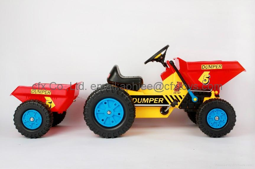 kids pedal car ride on toy mini dumper truck 2