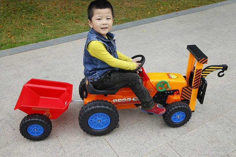 China toys kids ride on car toy car mini tractor toy crane trailer 417 3