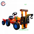China toys kids ride on car toy car mini tractor toy crane trailer 417 5