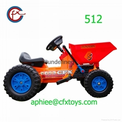children electric car ride on tractor mini dumper 512