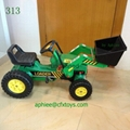 high quality children ride on toy truck mini excavator pedal car 5
