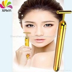 Anti-wrinkle mini vibration 24k gold beauty bar