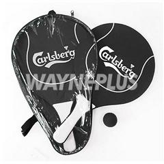 Carlsberg Wooden Beach Rackets Set 040101