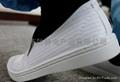 白色条纹防静电中巾鞋