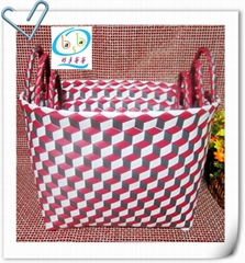 椭圆形状三维立体图案储物篮筐三件套