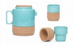 軟木陶瓷茶具套裝