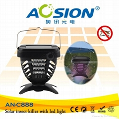 Aosion Best Selling Solar Powered Insect Killer With UV Lamp