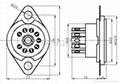 GZC9-F-1(GZC9-F-1-G) 9-pin ceramic tube socket