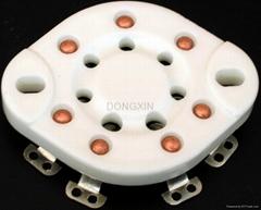 GZC7-13(GZC7-13-G)型瓷質平板七腳管座