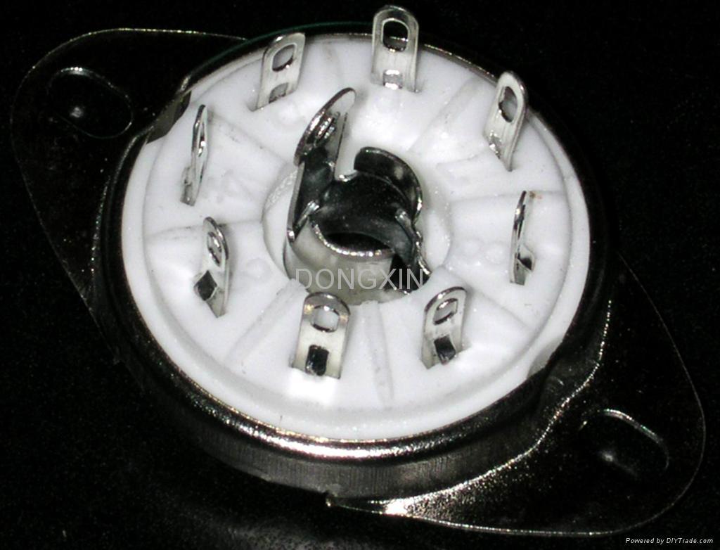 GZC8-Y-8(GZC8-Y-8-G) 8-pin ceramic socket