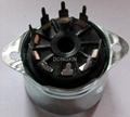 PCP9-Y-1 9-pin bakelite socket with shield base