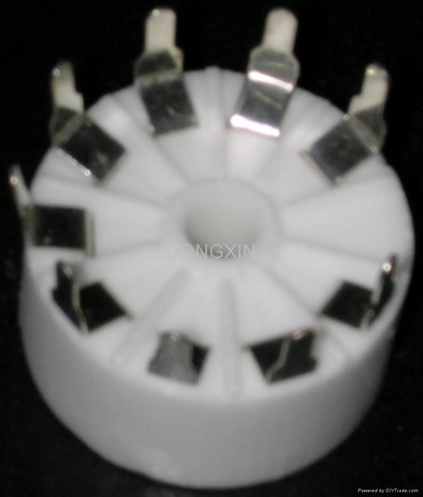 GZC9-Y-3(GZC9-Y-3-G)型瓷质九脚管座 1