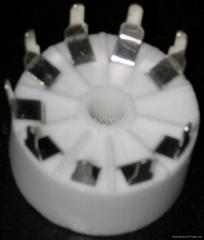 GZC9-Y-3(GZC9-Y-3-G)型瓷质九脚管座