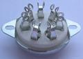 GZC7-C-1(GZC7-C-1-G) 七脚陶瓷管座 2