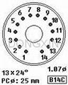 GZC14-F-B(GZC14-F-B-G) 14-pin ceramic socket