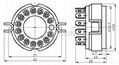 GZC14-Y(GZC14-Y-G) 14脚陶瓷管座