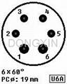 GZC6-C-1(GZC6-C-1-G) 6-pin ceramic socket