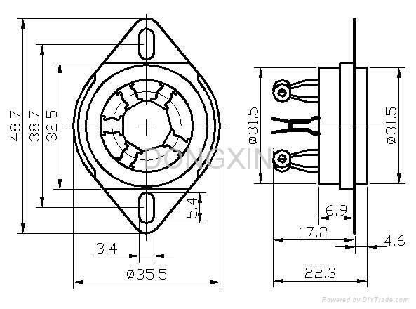 GZC5-C-2(GZC5-C-2-G) 五脚陶瓷管座 3