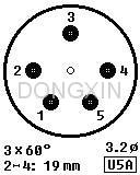 GZC5-C-2(GZC5-C-2-G) 五脚陶瓷管座 4