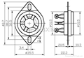 GZC5-C-1(GZC5-C-1-G) 五腳陶瓷管座