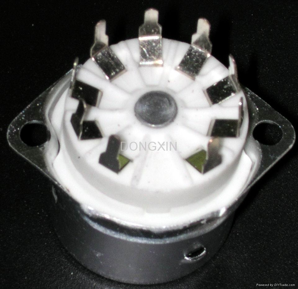 GZC9-F-Y 9-pin ceramic socket with shield base