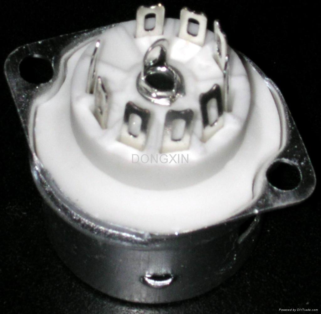 GZC9-F-B(GZC9-F-B-G) 9-pin ceramic socket with shield base