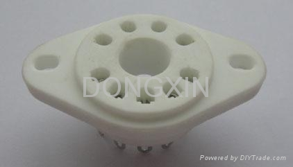 GZC9-P(GZC9-P-G) 9脚陶瓷管座 1