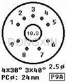 GZC9-P(GZC9-P-G) 9脚陶瓷管座 4