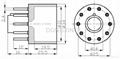 S10AES 10-pin phenolic tube base