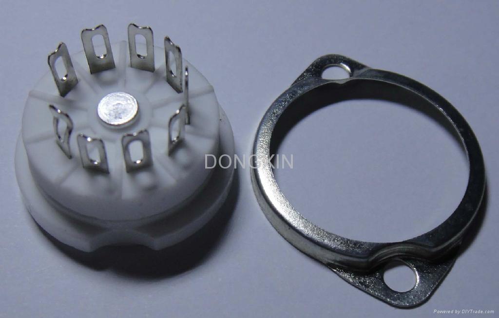 GZC9-F-3(GZC9-F-3-G) 9-pin ceramic tube socket