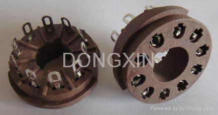 GZS10-1-F(GZS10-1-F-G) 10脚胶木管座 1