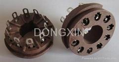 GZS10-1-F(GZS10-1-F-G) 10脚胶木管座