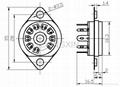 GZS9-F2(GZS9-F2-G) 9-pin plastic tube socket