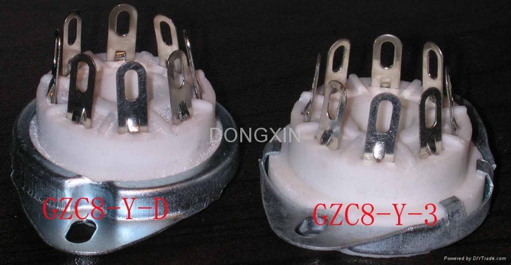 GZC8-Y-D(GC8-Y-D-G)型瓷质八脚管座 2