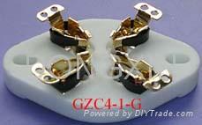 GZC4-1(GZC4-1-G)型瓷质平板四脚管座 3