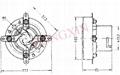 GZC4-1B(GZC4-1B-G)型瓷质四脚管座 4
