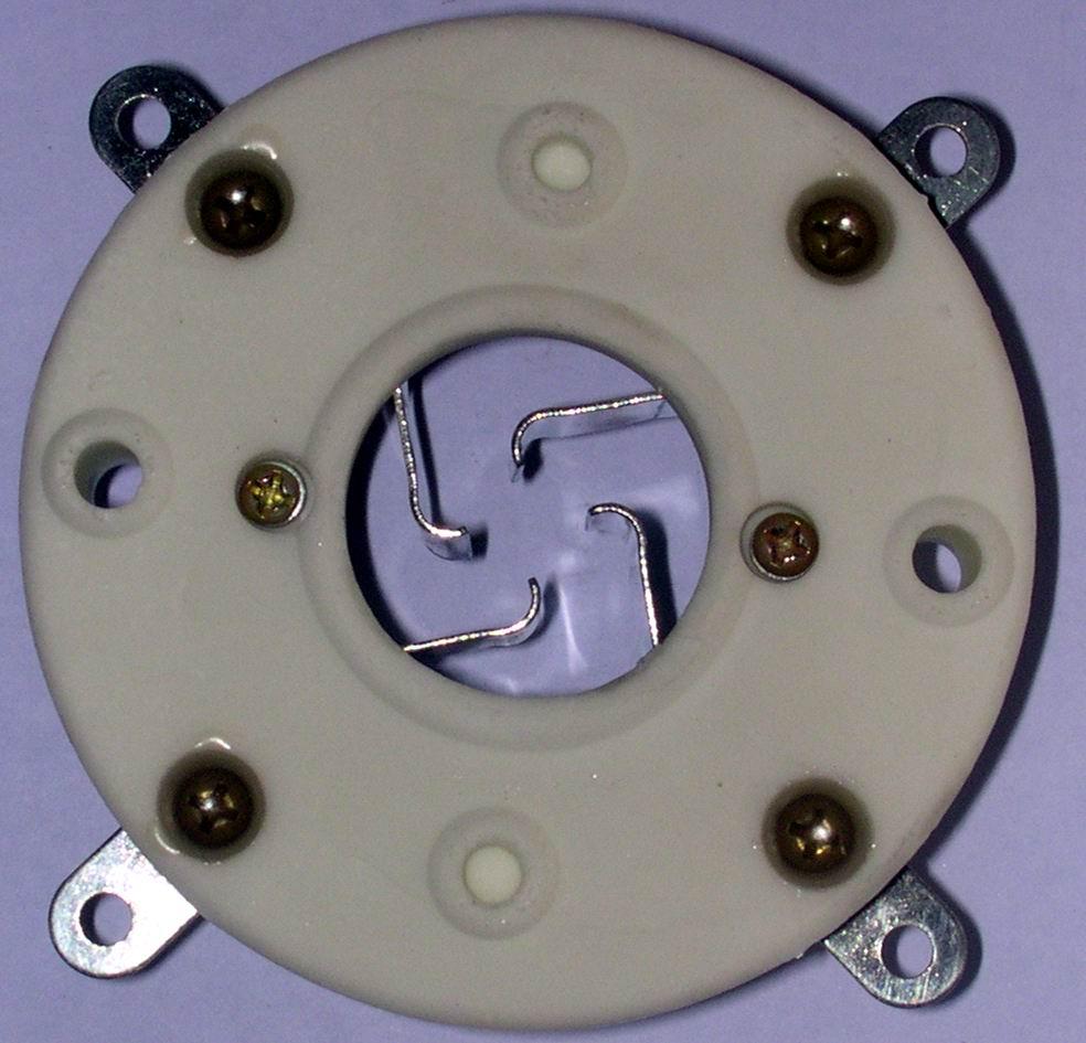 GZC4-1B(GZC4-1B-G)型瓷质四脚管座 2