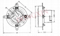 GZC4-3B(GZC4-3B-G)4-pin jumbo bayonet ceramic socket