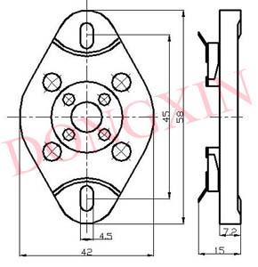 GZC4-1(GZC4-1-G)型瓷质平板四脚管座 4