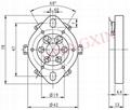 GZC6-1(GZC6-1-G) 6-pin plain ceramic socket