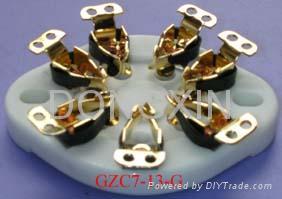 GZC7-13(GZC7-13-G)型瓷质平板七脚管座 3