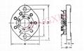 GZC7-13(GZC7-13-G)型瓷质平板七脚管座 4
