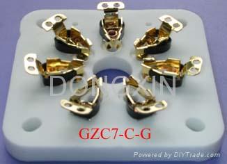 GZC7-C(GZC7-C-G)型瓷质方板七脚管座 3