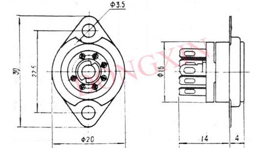 GZC7-F(GZC7-F-G)型瓷质七脚管座 4