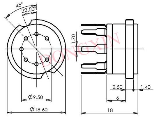 GZC7-Y(GZC7-Y-G)型瓷质七脚管座 4