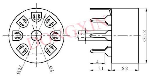 GZC7-Y-B型瓷质七脚管座 3