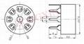 GZC7-Y-B 7-pin ceramic socket